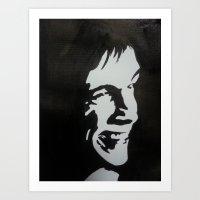 iggy pop Art Prints featuring Iggy Pop by badashh