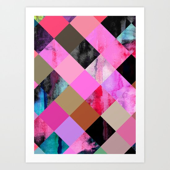 colour + pattern 14 Art Print