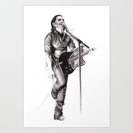 Brian Molko Art Print