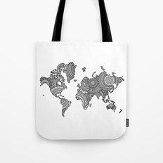 World mandala map Tote Bag