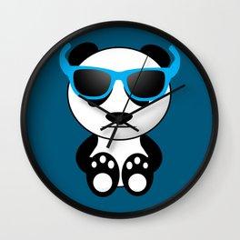 Cool and cute panda bear with sunglasses Wall Clock