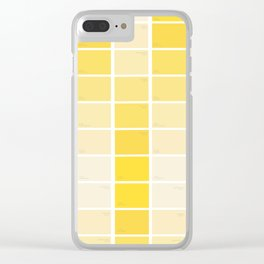 paintchips yellow Clear iPhone Case