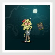 Do not feed the Zombies Art Print