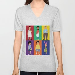 Bob's Bugers Characters Unisex V-Neck