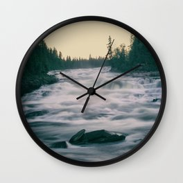 Flowing water in a river Wall Clock