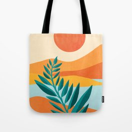 Mountain Sunset / Abstract Landscape Illustration Tote Bag
