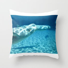 Ocean Blue Beluga Pairs Version 1 Throw Pillow