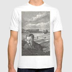 I Am Shipwrecked MEDIUM White Mens Fitted Tee