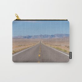 Open Road Photography, Loneliest Highway in America Photo, Nevada Road, Travel Photography Carry-All Pouch