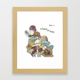 Inanimate Collective: Hats Framed Art Print