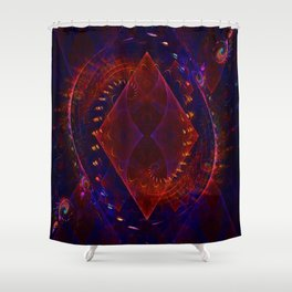 Sonic Flame Fractal Shower Curtain