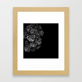 Roses Illustration Framed Art Print