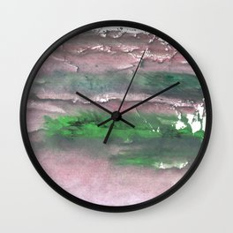 Purple green cloud Wall Clock