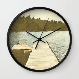 Lily Bay Dock Wall Clock