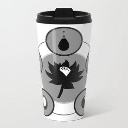 The Power Six - Minimalist White Metal Travel Mug