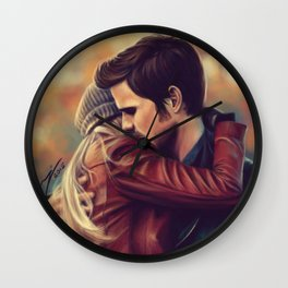 You put your arms around me Wall Clock