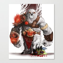 Barbarian Voli Canvas Print