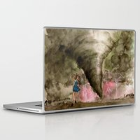kansas Laptop & iPad Skins featuring Leaving Kansas by Jen Hallbrown
