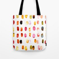 aelwen Tote Bags featuring strokes of colors by clemm