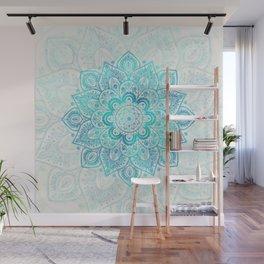 Turquoise Lace Mandala Wall Mural