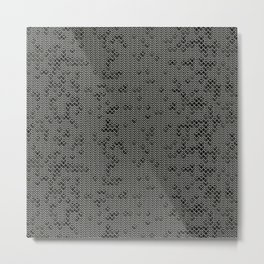 Chain Mail Texture Metal Print