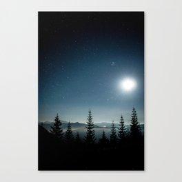 Moonlit Sonata in Blue Canvas Print