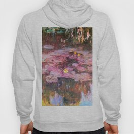 Water Lilies Monet 1917 Hoody