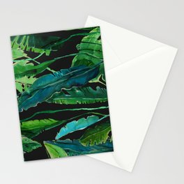 tropical nature compilation at nigth Stationery Cards