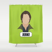 winchester Shower Curtains featuring 2 Sam Winchester by Alice Wieckowska