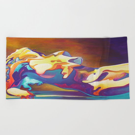 The United Colours of Orgasm Thermal Nude Beach Towel
