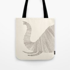 Elephant (On Beige) Tote Bag