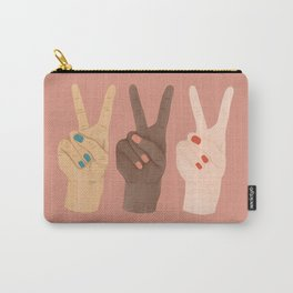 Peace Hands Carry-All Pouch