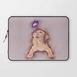Staffordshire terrier Puppy with Butterfly Laptop Sleeve
