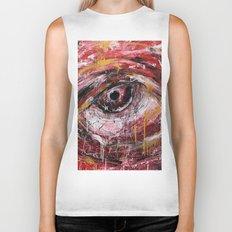 Left red eye Biker Tank