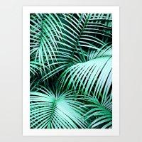 palms Art Prints featuring Palms by Karen Hofstetter