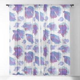 Blue Betta Sheer Curtain