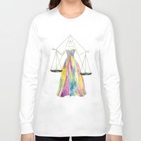 zodiac Long Sleeve T-shirts featuring Zodiac - Libra by Simona Borstnar