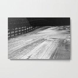 icy blackness Metal Print