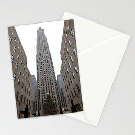 Rockefeller Plaza Christmas Tree Stationery Cards