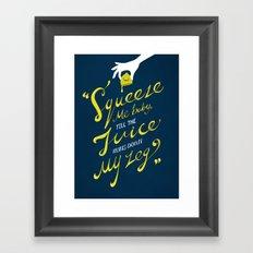 The Lemon Song Framed Art Print
