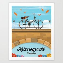 Keizersgracht Canal Amsterdam Art Print