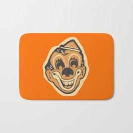 Retro Creepy Halloween Clown Face Mask Bath Mat