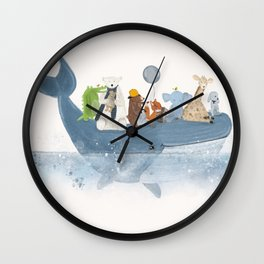 a whale of a time Wall Clock