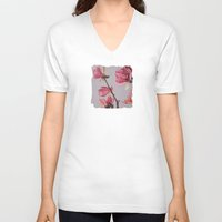 magnolia V-neck T-shirts featuring Magnolia by Marjolein