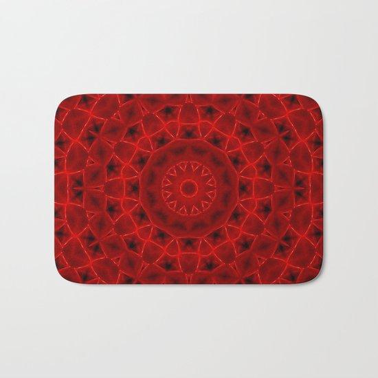 Kaleidoscope Red Alien Nest Pattern Bath Mat