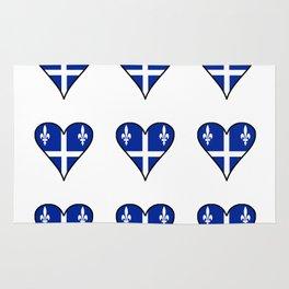 Flag of quebec 4– Canada, montreal,Saint Laurent,Quebecois,belle province, trois rivières. Rug