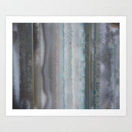 Agate Stripe Gray Art Print