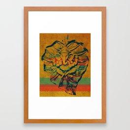 Ganesha on leaf Framed Art Print