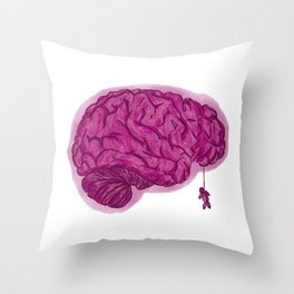 Brain Dead Throw Pillow