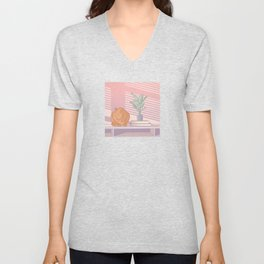 Cat Nap Unisex V-Neck